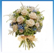 Bouquet White Blue